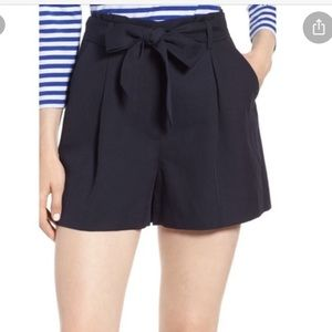 Nordstrom signature tie waisted shorts navy blue
